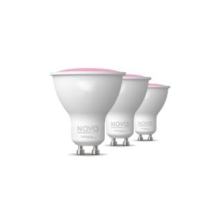 Novo GU10 SMART LED lamp 5,5Watt dimbaar RGBW Set 3x