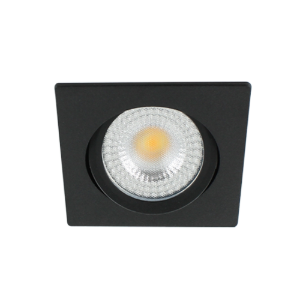 LED spot kantelbaar 5Watt vierkant ZWART IP65 dimbaar D2-2 - Zonder driver
