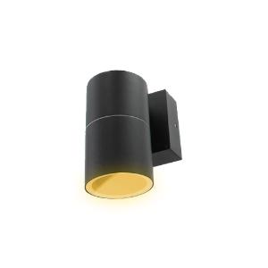 Schuttinglamp LED 1x3Watt ZWART 220Volt IP65 dimbaar