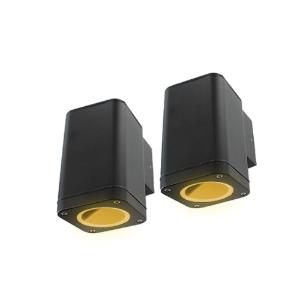 Set 2x Schuttinglamp LED 1x3Watt ZWART 220Volt IP65 dimbaar