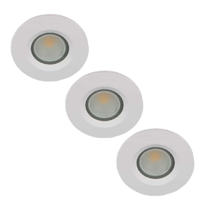 Set 3x LED spot GU10 COB 5Watt rond WIT IP65 dimbaar D2