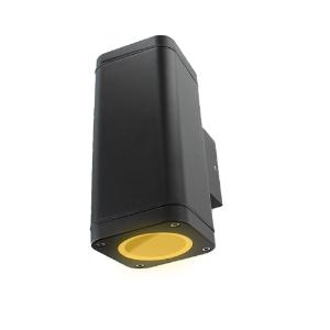 Schuttinglamp LED 2x3Watt ZWART 220Volt IP65 dimbaar
