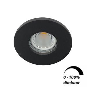 LED spot GU10 6Watt rond ZWART IP65 dimbaar D1