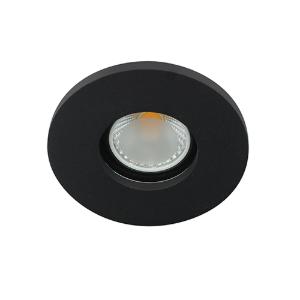 LED spot GU10 COB 3Watt rond ZWART IP65 dimbaar D1