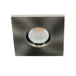 LED spot GU10 COB 3Watt vierkant NIKKEL IP65 dimbaar D1