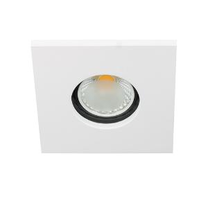 LED spot GU10 COB 3Watt vierkant WIT IP65 dimbaar D1