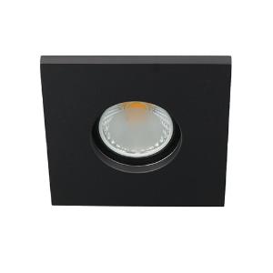 LED spot GU10 COB 3Watt vierkant ZWART IP65 dimbaar D1