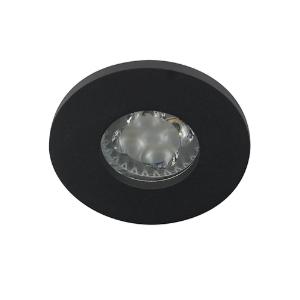 LED spot MR16 4Watt rond ZWART IP65 dimbaar (12 Volt)