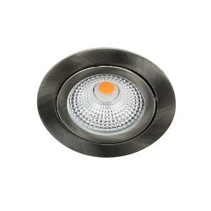 LED spot kantelbaar 5Watt rond NIKKEL IP65 dimbaar D-1
