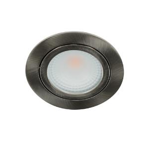 LED spot kantelbaar 5Watt rond NIKKEL IP65 dimbaar D2-1