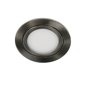 LED spot kantelbaar 5Watt rond NIKKEL IP65 dimbaar D3-1