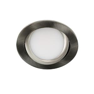 LED spot kantelbaar 5Watt rond NIKKEL IP65 dimbaar D3-2