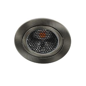 LED spot kantelbaar 5Watt rond NIKKEL IP65 dimbaar D5-1