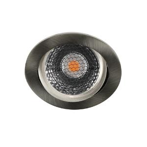 LED spot kantelbaar 5Watt rond NIKKEL IP65 dimbaar D5-2