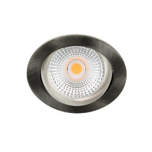 LED spot kantelbaar 5Watt rond NIKKEL dimbaar D-2