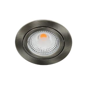 LED spot kantelbaar 5Watt rond NIKKEL dimbaar D1-1