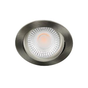 LED spot kantelbaar 5Watt rond NIKKEL dimbaar D1-2