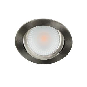 LED spot kantelbaar 5Watt rond NIKKEL dimbaar D2-2