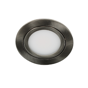 LED spot kantelbaar 5Watt rond NIKKEL dimbaar D3-1