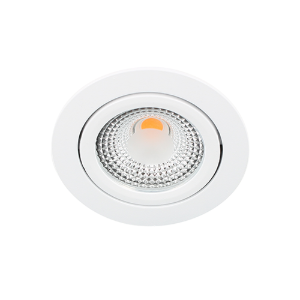 LED spot kantelbaar 5Watt rond WIT IP65 dimbaar D1-1