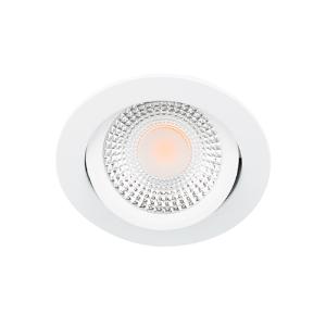 LED spot kantelbaar 5Watt rond WIT IP65 dimbaar D1-2