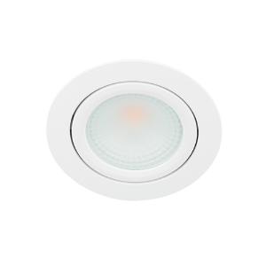 LED spot kantelbaar 5Watt rond WIT IP65 dimbaar D2-1
