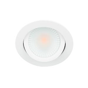 LED spot kantelbaar 5Watt rond WIT IP65 dimbaar D2-2