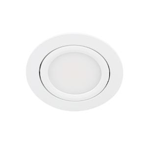 LED spot kantelbaar 5Watt rond WIT IP65 dimbaar D3-1