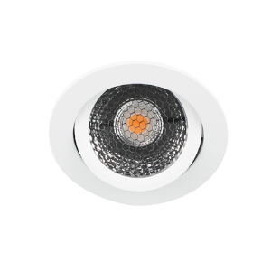 LED spot kantelbaar 5Watt rond WIT IP65 dimbaar D5-2