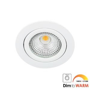 LED spot kantelbaar 5Watt rond WIT IP65 dimbaar DTW-1