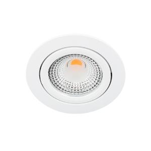 LED spot kantelbaar 5Watt rond WIT dimbaar D1-1