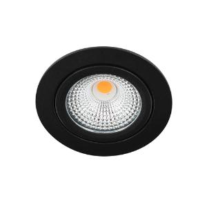 LED spot kantelbaar 5Watt rond ZWART IP65 dimbaar D-1