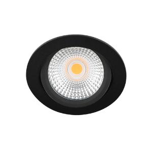 LED spot kantelbaar 5Watt rond ZWART IP65 dimbaar D-2
