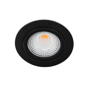 LED spot kantelbaar 5Watt rond ZWART IP65 dimbaar D1-1