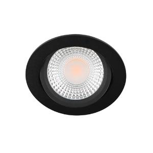 LED spot kantelbaar 5Watt rond ZWART IP65 dimbaar D1-2