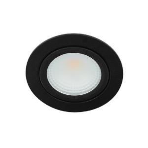 LED spot kantelbaar 5Watt rond ZWART IP65 dimbaar D2-1