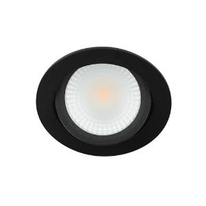 LED spot kantelbaar 5Watt rond ZWART IP65 dimbaar D2-2