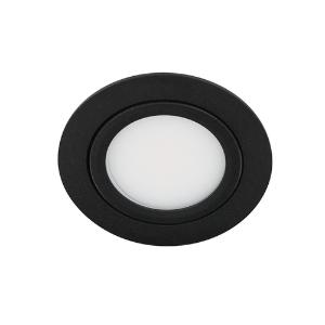 LED spot kantelbaar 5Watt rond ZWART IP65 dimbaar D3-1