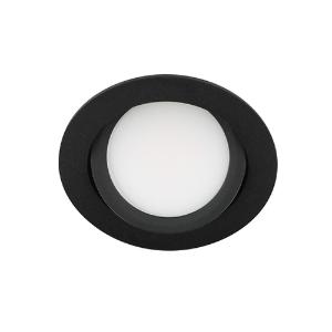 LED spot kantelbaar 5Watt rond ZWART IP65 dimbaar D3-2