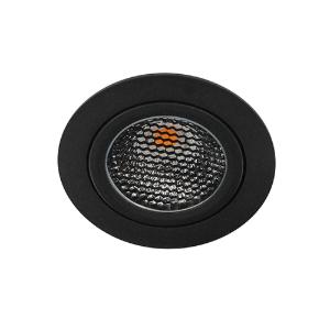 LED spot kantelbaar 5Watt rond ZWART IP65 dimbaar D5-1