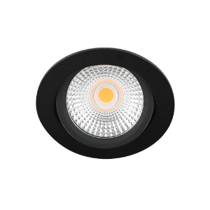 LED spot kantelbaar 5Watt rond ZWART dimbaar D-2