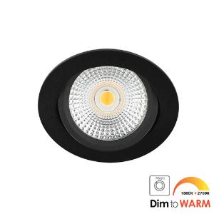 LED spot kantelbaar 5Watt rond ZWART dimbaar DTW-2