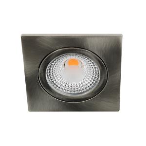 LED spot kantelbaar 5Watt vierkant NIKKEL IP65 dimbaar D1-1
