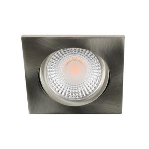 LED spot kantelbaar 5Watt vierkant NIKKEL IP65 dimbaar D1-2