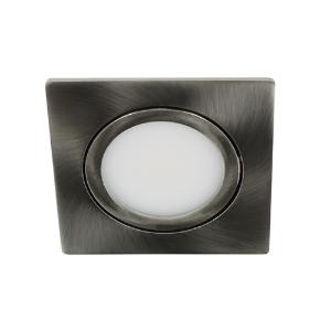 LED spot kantelbaar 5Watt vierkant NIKKEL IP65 dimbaar D3-1
