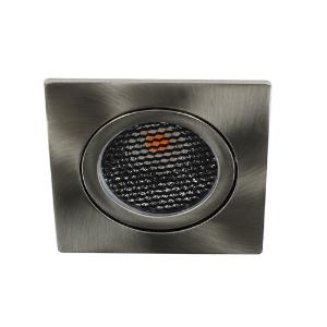 LED spot kantelbaar 5Watt vierkant NIKKEL IP65 dimbaar D5-1