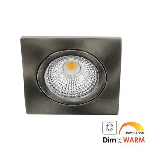 LED spot kantelbaar 5Watt vierkant NIKKEL IP65 dimbaar DTW-1