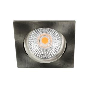 LED spot kantelbaar 5Watt vierkant NIKKEL dimbaar D-2