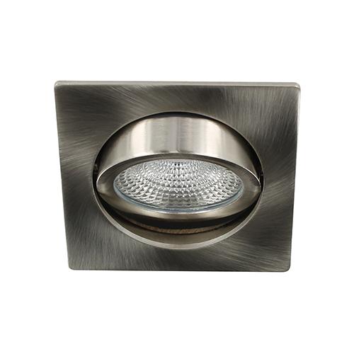LED spot kantelbaar 5Watt vierkant NIKKEL dimbaar D-3