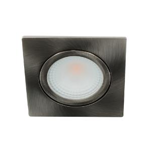 LED spot kantelbaar 5Watt vierkant NIKKEL dimbaar D2-1